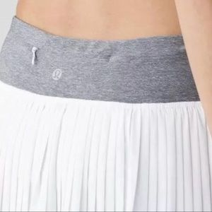 LULULEMON 'Pleat To Street II Skirt' Skort White